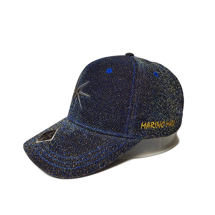 ACE peak black baseball cap OEM for baseball fans-2