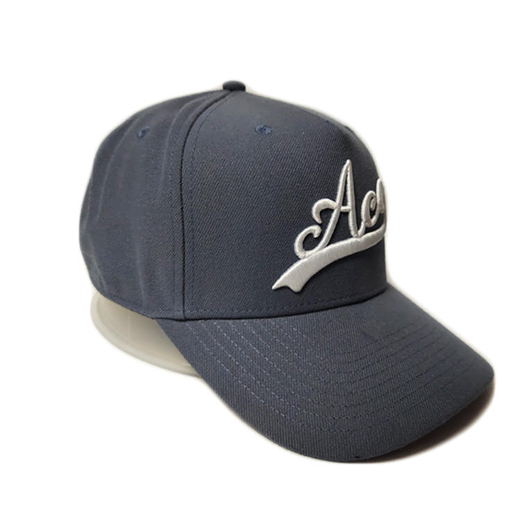 Wholesale ACE Headwear Custom 6 Panel Grey Embroidery or printing Baseball Caps Hats