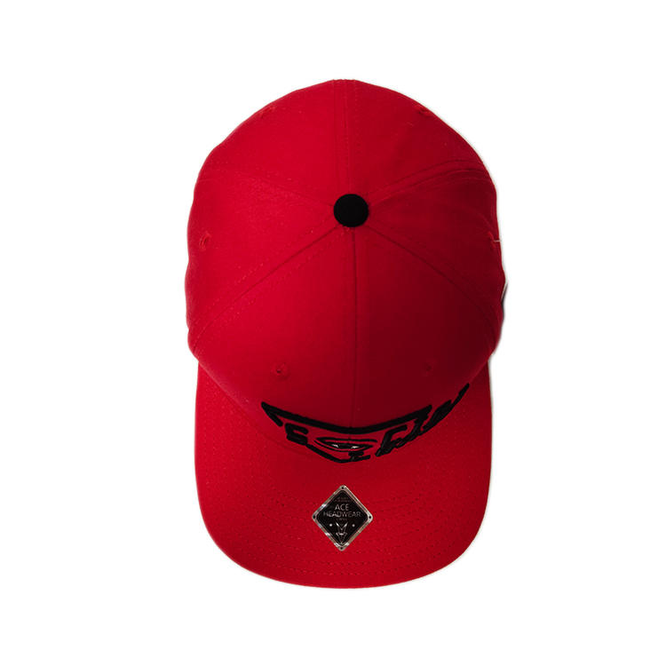High Crown  hot sale custom red 3d embroidery eye snapback hats caps as your requirement