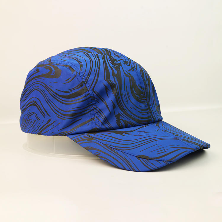 New Style Blue Solid Color Durable Elephant Print Baseball Sports Cap Hat
