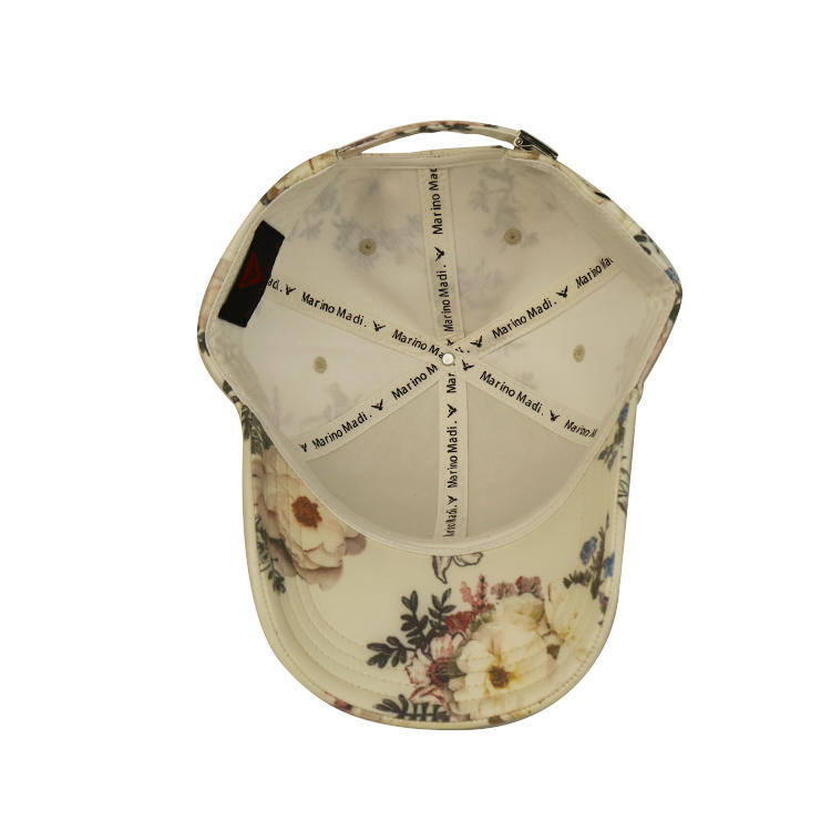 High Quality Women flower baseball cap floral Style Hat Cap with a Metal Patch
