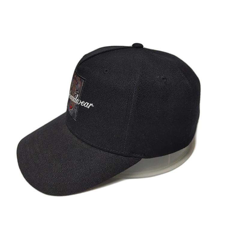 High Quality Tiger Cloth Pattern Embroidery Cotton Twill Baseball Sports Curve Brim Cap Hat