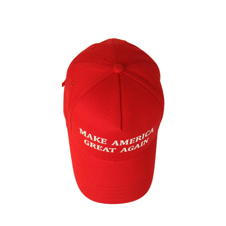 Silk Printing Baseball Caps Cheap Price Hot Sale Red Color Dad Hat With Logo Make America Strong Again