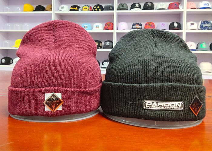 Winter Women Casual Warm Hat custom 100% wool Woven Labels Knitted Hat Beanies Men Solid Cotton Hats
