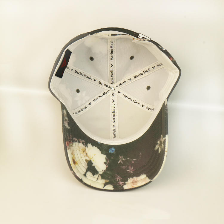 Ace Constructed 6 Panel Baseball Caps Custom Printing Black Cotton Hihop Cap For Women And Man Bsci