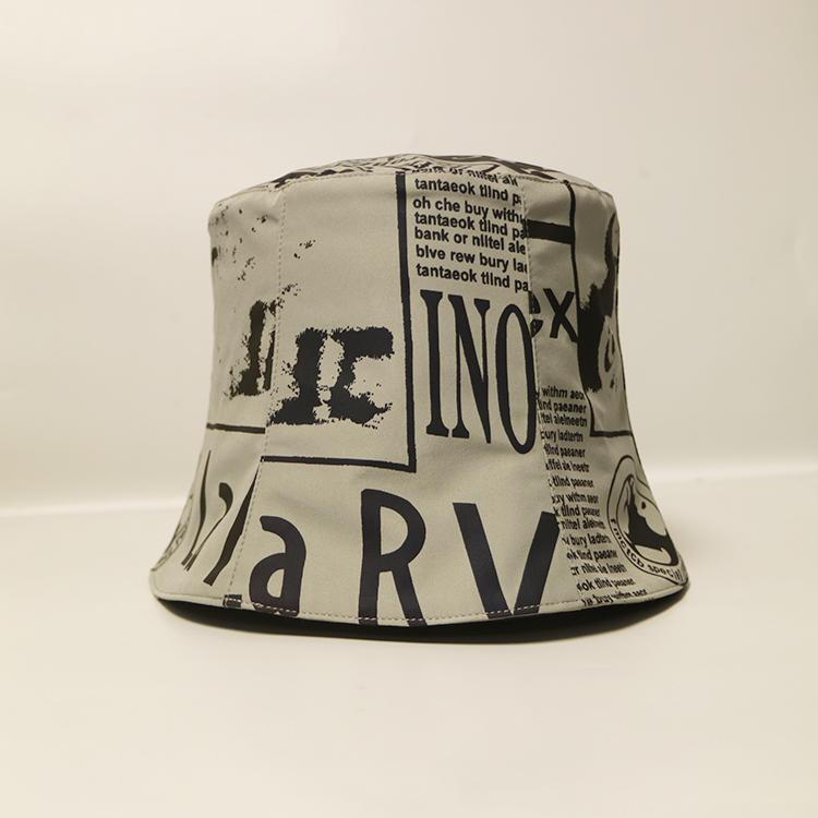 ACE New Style Sublimination Graffiti Paint-Splashing Style Design Bucket Fishing Cap Hat