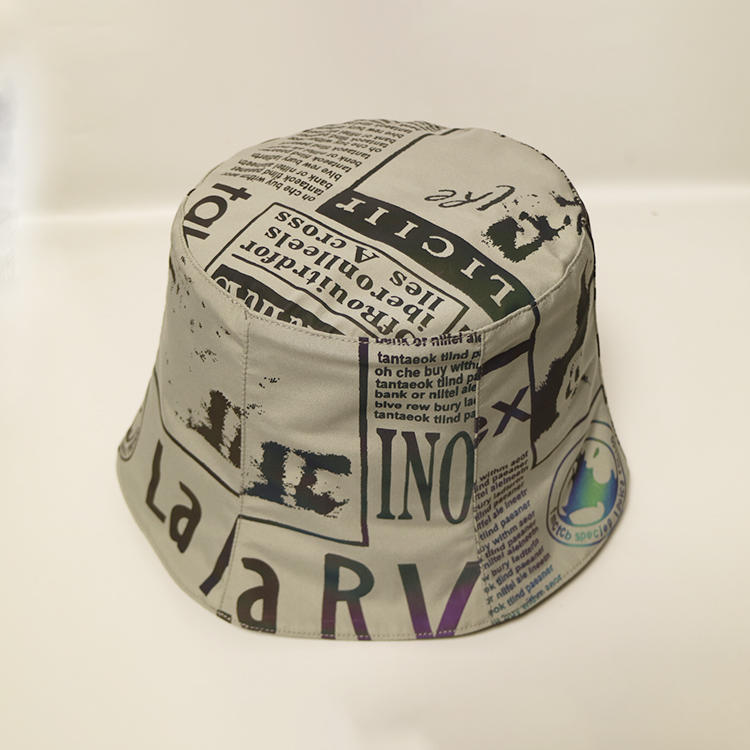 ACE New Style Sublimination Graffiti Paint-Splashing Style Design Bucket Fishing Cap Hat