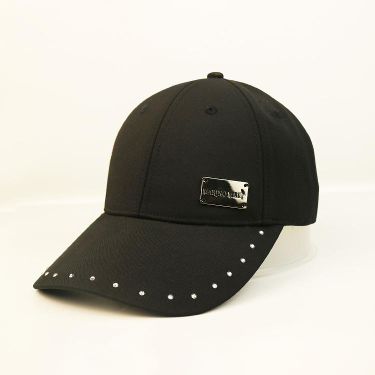 Hot Sales ACE Unisex Fashionable Creative Rhinestone Bill Design Metal Patch Icon Baseball Hip Hop Cap Hat