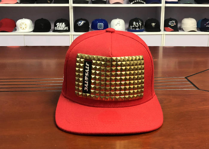 fashion black flat bill rivet snapback caps snap back hats