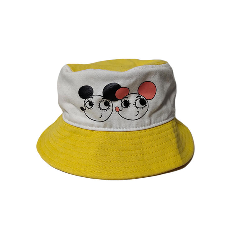Cartoon Character Adult Kids Summer Wide Brim Round Foldable Bucket Hat Sunscreen Fisherman Cap
