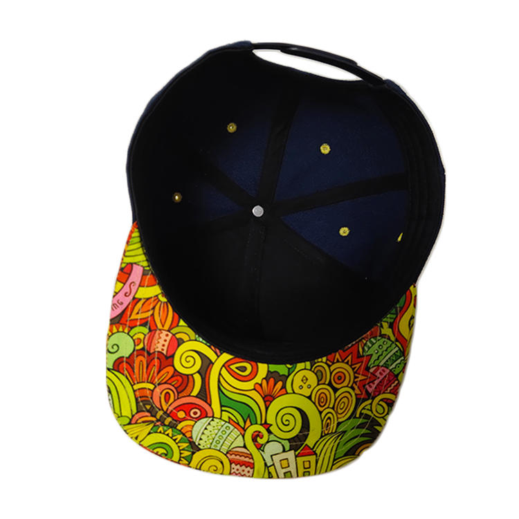 Sublimation Printing Snapback Caps with sublimation pattern brim /Hats high quality cheaper Price Custom Your 3D Embroidery Logo High Quality,Custom Snapback Hats/Caps