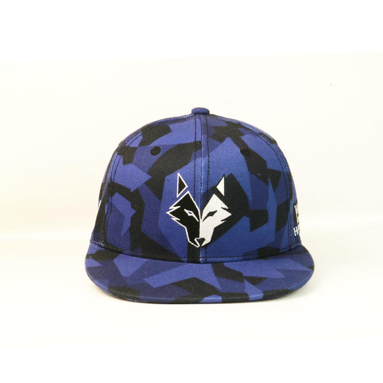 High Quality Ourdoor Cool Wolf Pattern Unisex Flat Embroidery Baseball Hip Hop Snapbacks Caps Hats