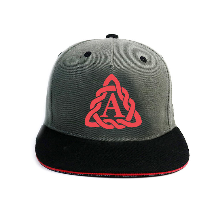 Mix Color 6panel Custom Made rubber printing Logo Snapback Hats Caps