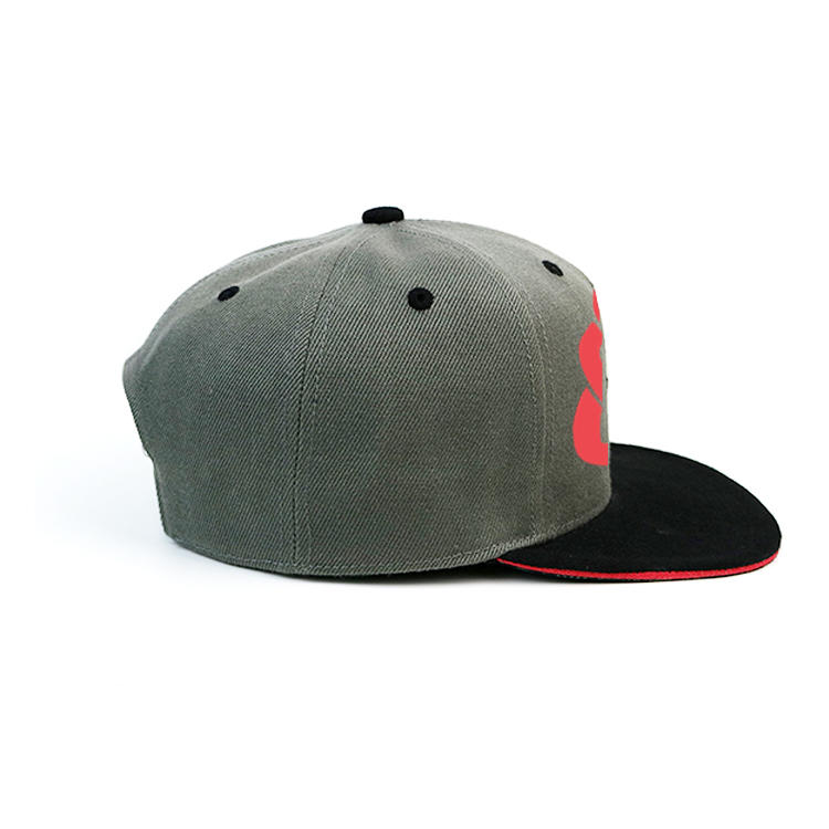 Mix Color 6panel Custom Made rubber printing Logo Snapback Hats Caps