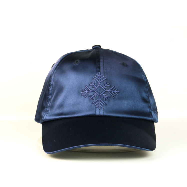 Wholesale personality fashion fully custom embroidered satin baseball cap for unisex