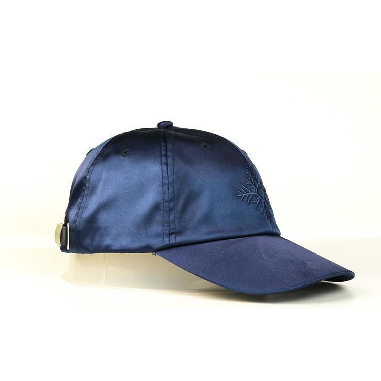 Wholesale personality fashion fully custom embroidered satin baseball cap for unisex
