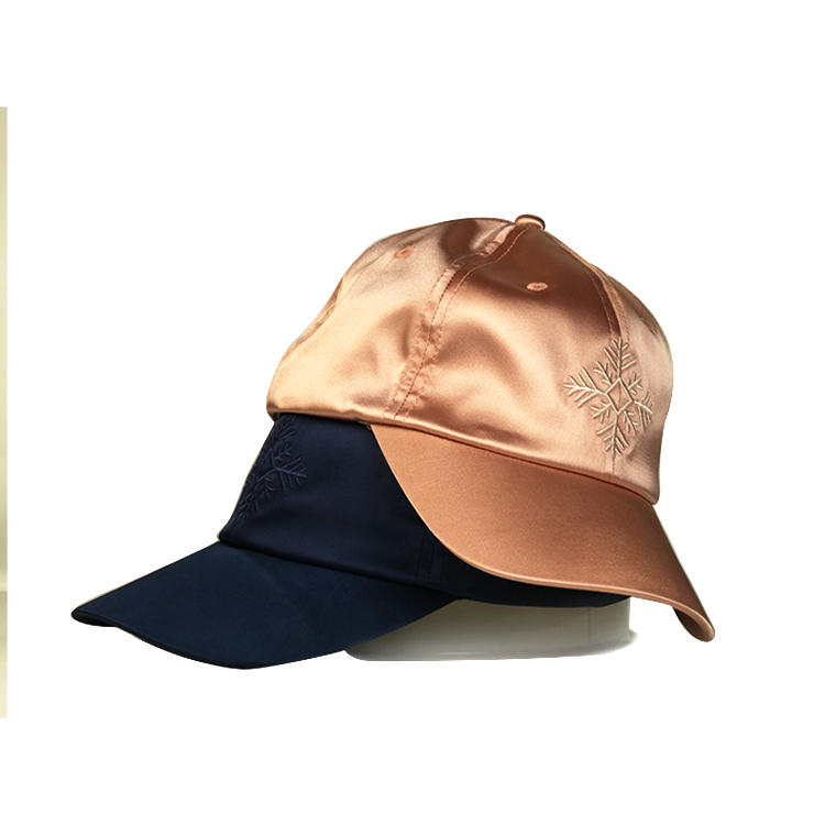 Professional custom satin baseball cap hat embroidered sports caps wholesales