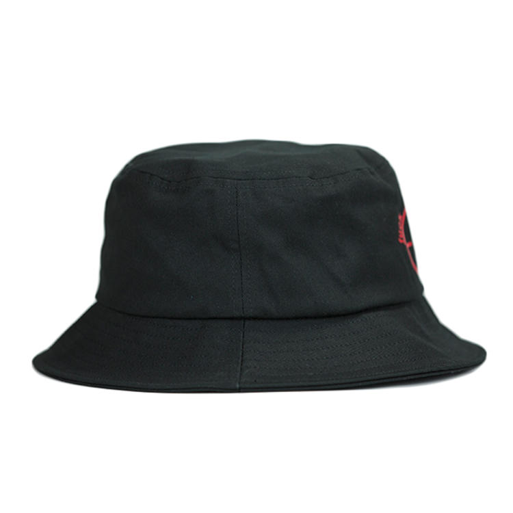 design your own custom 3D rubber printed black and white colorful men reversible cotton wide brim adult fisherman bucket hat cap