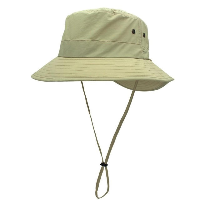 Lightweight UV Protection Strap Cool Wide Brim Quick Dry Fishing Bucket Hat