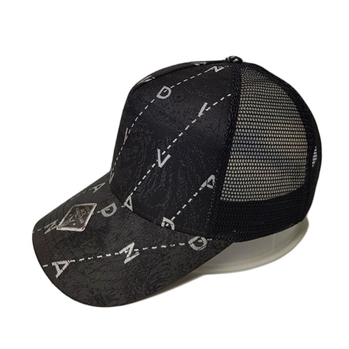 ACE solid mesh white trucker cap free sample for fashion-1