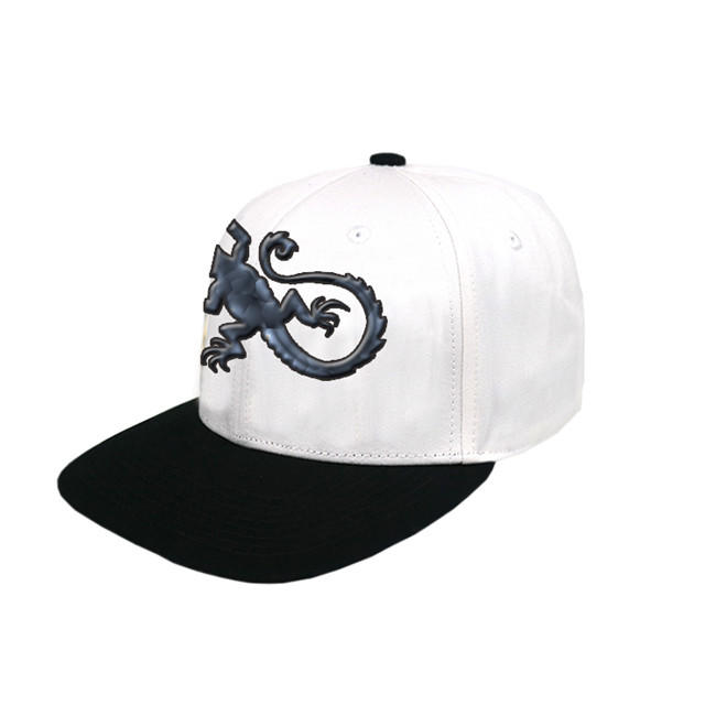 OEM ODM Custom Logo Creative Gecko Pattern Baseball Snapback Cap Hat