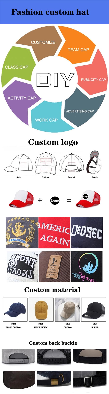 solid mesh custom baseball caps black for wholesale for beauty-7