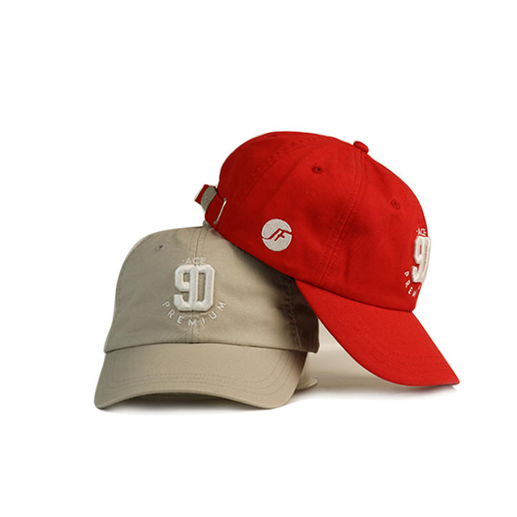 Ace 6 Panel Baseball Hat Custom 3d Embroidery Logo Cotton Dad Cap