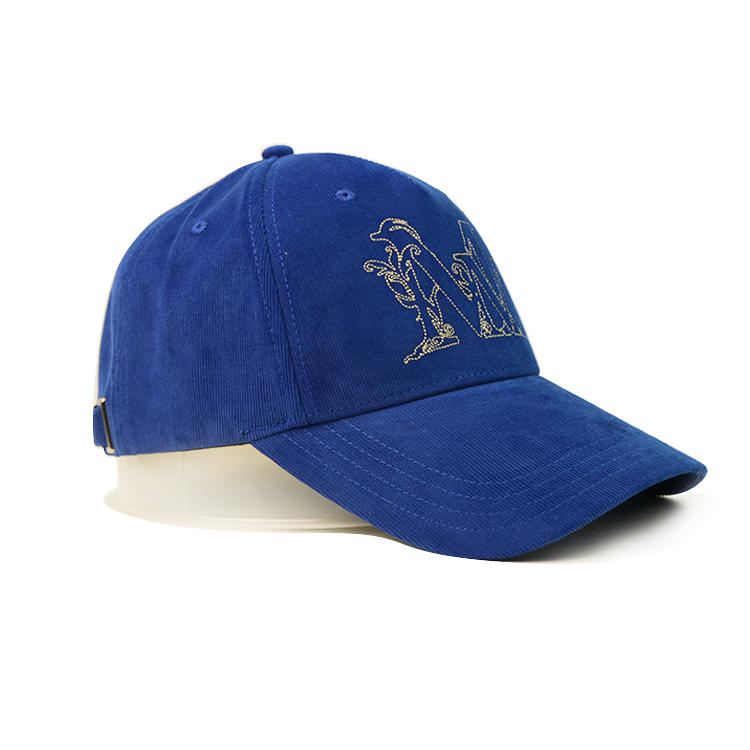 Bsci Custom Logo Corduroy Cotton Made Baseball Cap With Metal Buckle