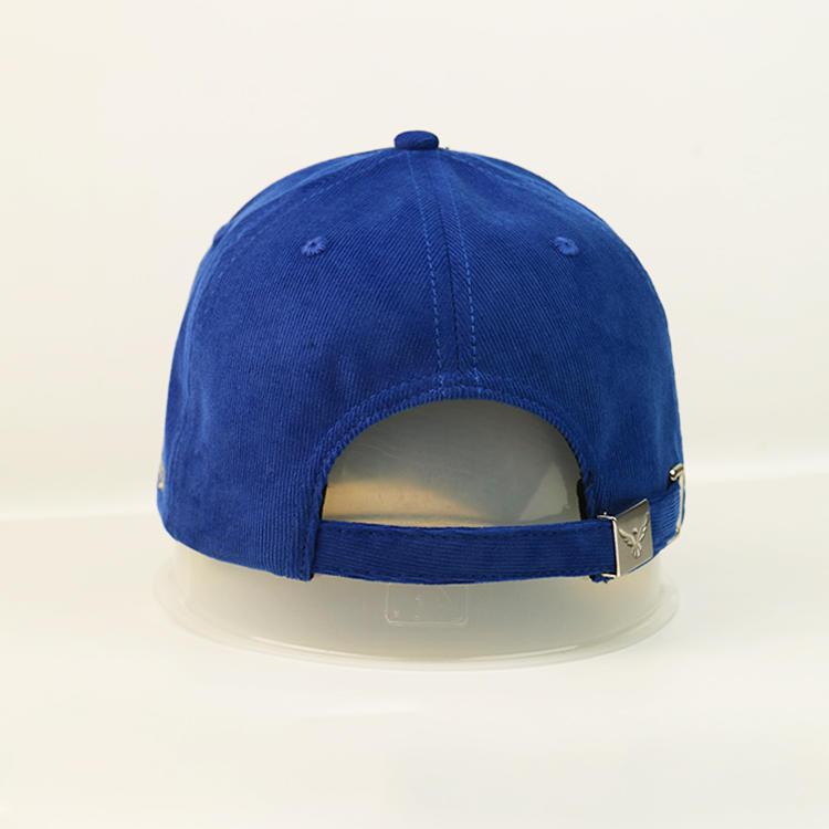 Bsci Custom Logo Corduroy Cotton Made Baseball Cap With Metal Buckle