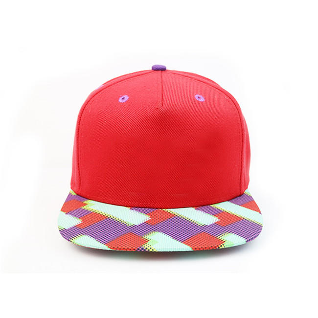 High-end Unisex Polyester Sublimination Print Custom Flat Brim Snapback Cap Hat