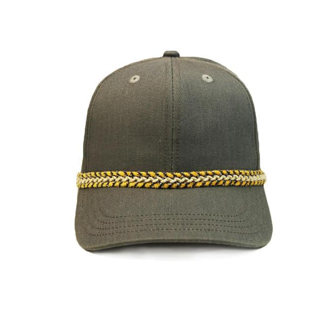 New Style ACE Unisex Creative Custom Embroidery Design Chain Strip Baseball Long Brim Cap Hat