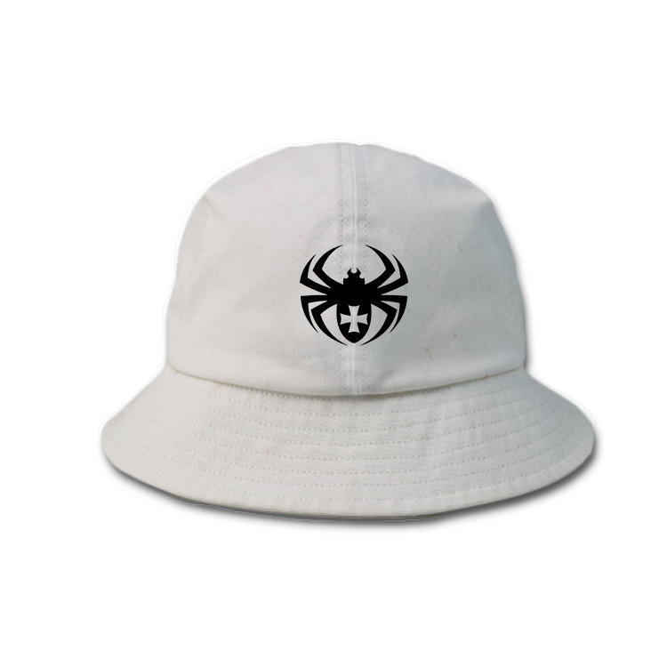 Small Order Custom spider logo Fitted Cotton Bucket Hat Caps