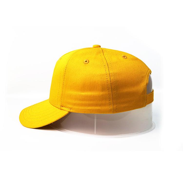 Curve Brim Yellow Lion Dancing Embroidery Logo Baseball Caps Hats