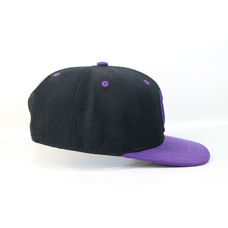 5 Panel High Crown Snapback Hats Custom Logo Flat Brim Hip-Hop Cap Bsci