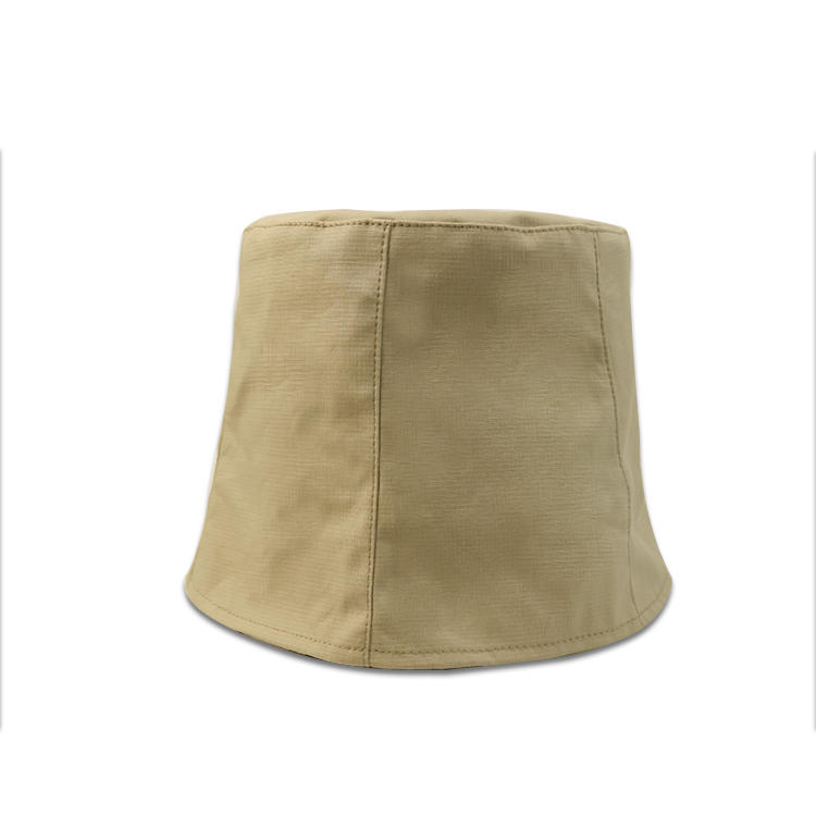 Light khaki custom flat embroidery logo fishing sun bucket hats caps