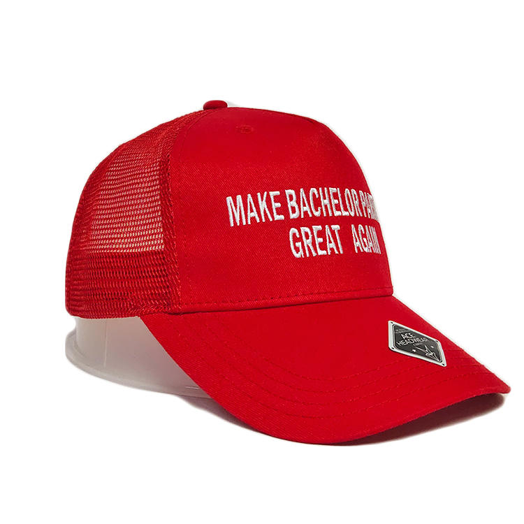 Custom flat embroidery personalized fitted baseball casual mesh trucker hats cap with plastic buckle