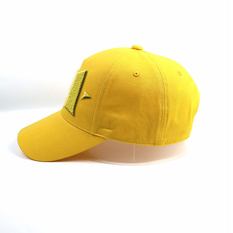 Wholesale 6panel structured Embroidery yellow cotton star Baseball Hat