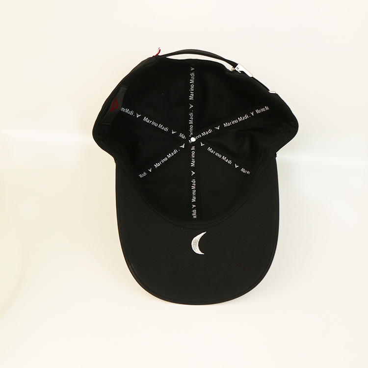 Bsci Curved Brim Polyester Baseball Cap Adjustable Hat With Metal Buckle