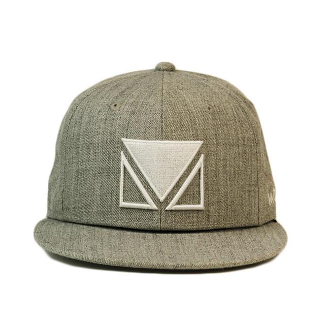 High quality custom logo flat embroidery snapback flat brim cap hat