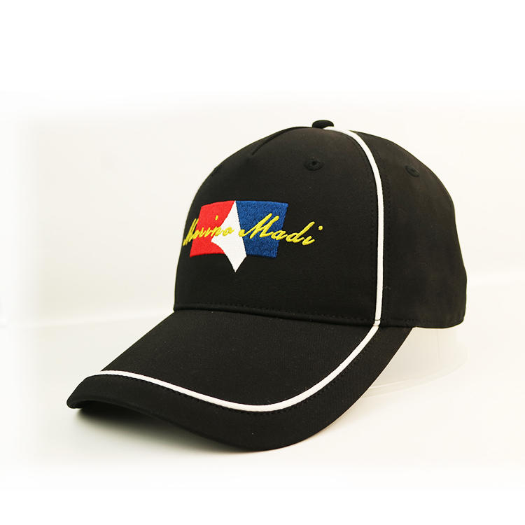 Flat Embroidery Logo Baseball Cap Custom Cotton Adjustable Constructed Sport Hat