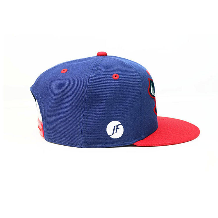 Get free sample Wholesale custom high quality 6 panel cap rubber patch hip hop snapback hat with snapback