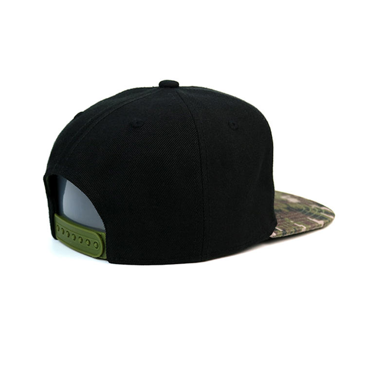 Custom flat brim hip hop cap snapback cap with special printing
