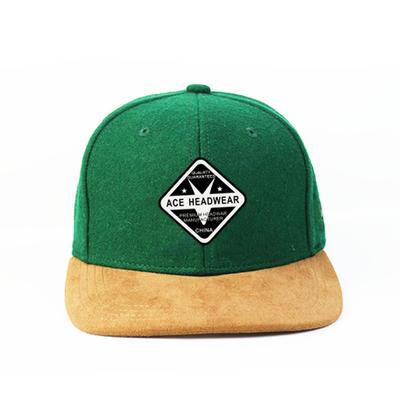 Snapback Hats Woven Badge Patch Custom Logo Flat Bill Hiphop Cap