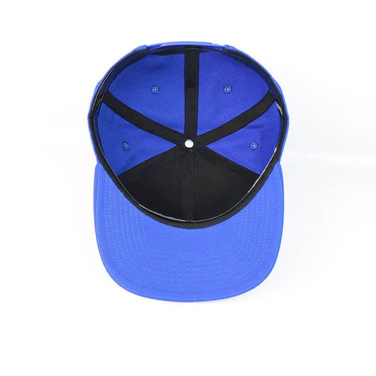 Blue Printed Flat Bill Hip Hop Snapback Caps Custom Made Logo Sticker