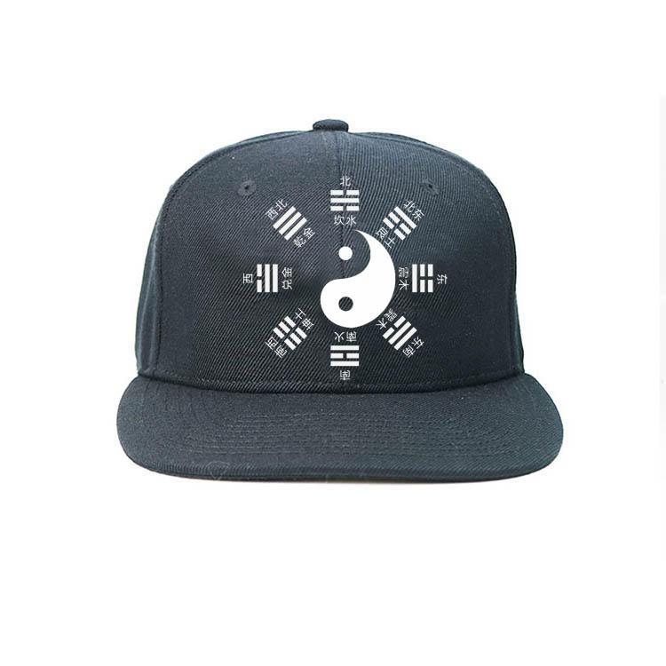 Customized design rubber printing Tai Ji Sports snapback Hats Caps