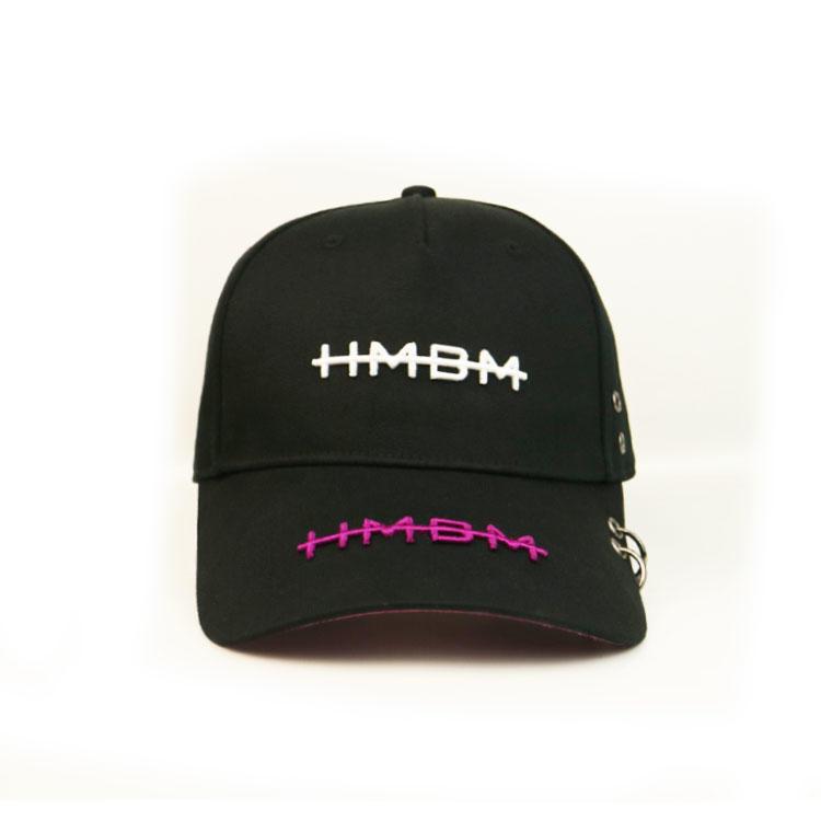 Unisex Design Flat 3D Embroidery On Panels Bill Peak Custom Logo Baseball Cap