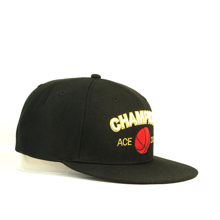 Custom Wholesale Snapback Cap Flat Bill Hat Embroidery 6 Panel Hat