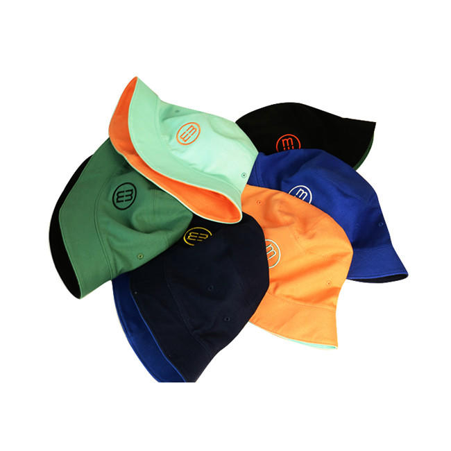 ACE Custom Mens Embroidered Double Sided Fisherman Bucket Hat Fishing Cap