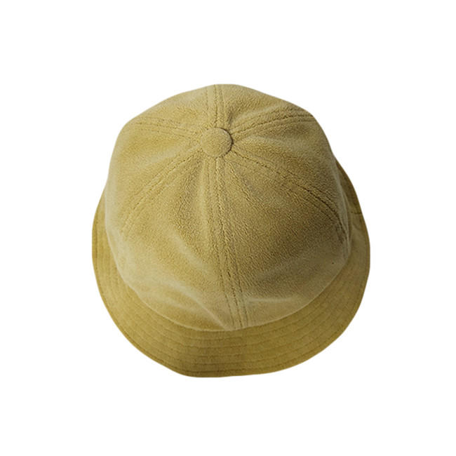 New Style ACE Unisex Custom Bucket Warm Winter Cap Custom Yellow Solid Color Fishing Cap Hat