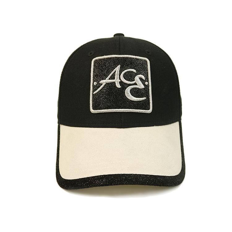 Custom baseball cap hat,customized sports cap hat,sports caps and hats with Black trim